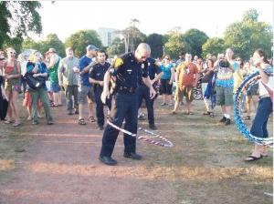 cops hula hoop